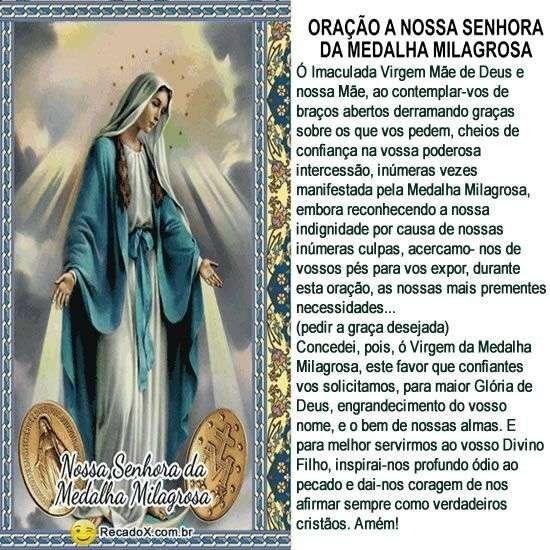 Oração a Nossa Senhora da Medalha Milagrosa