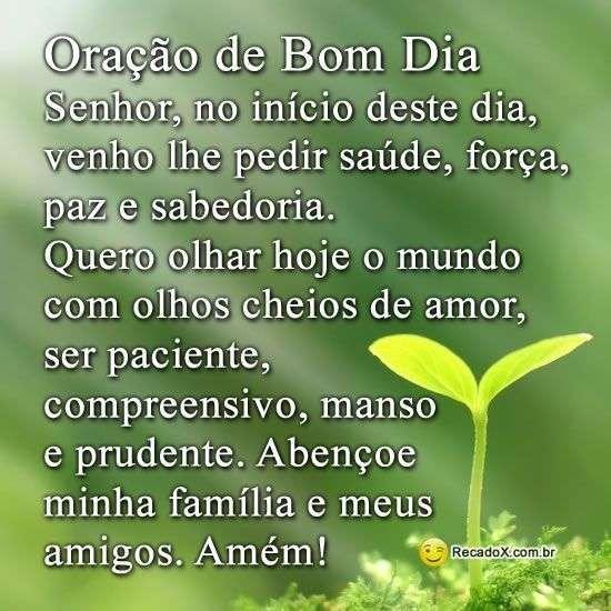 Oração de bom dia