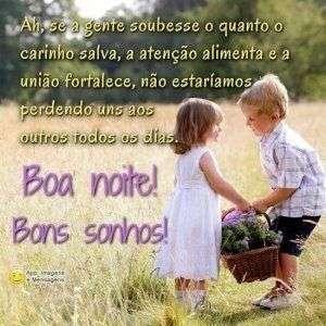 Boa noite e bons sonhos