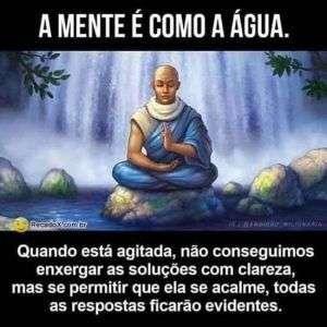A mente é como a água