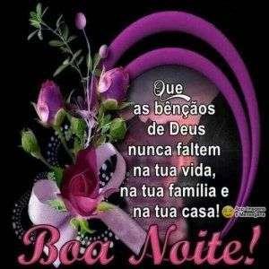 Boa noite com bênçãos